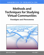 Handbook of Research on Methods and Techniques for Studying Virtual Communities
